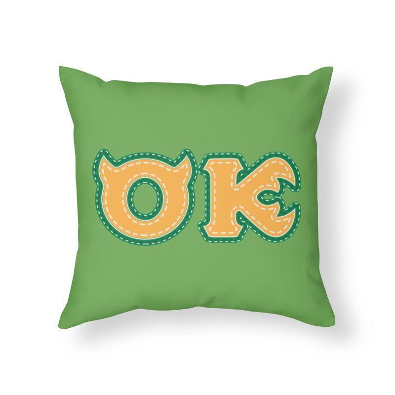 oozma Kappa Home Throw Pillow by darkchoocoolat's Artist Shop