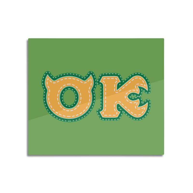 oozma Kappa Home Mounted Aluminum Print by darkchoocoolat's Artist Shop