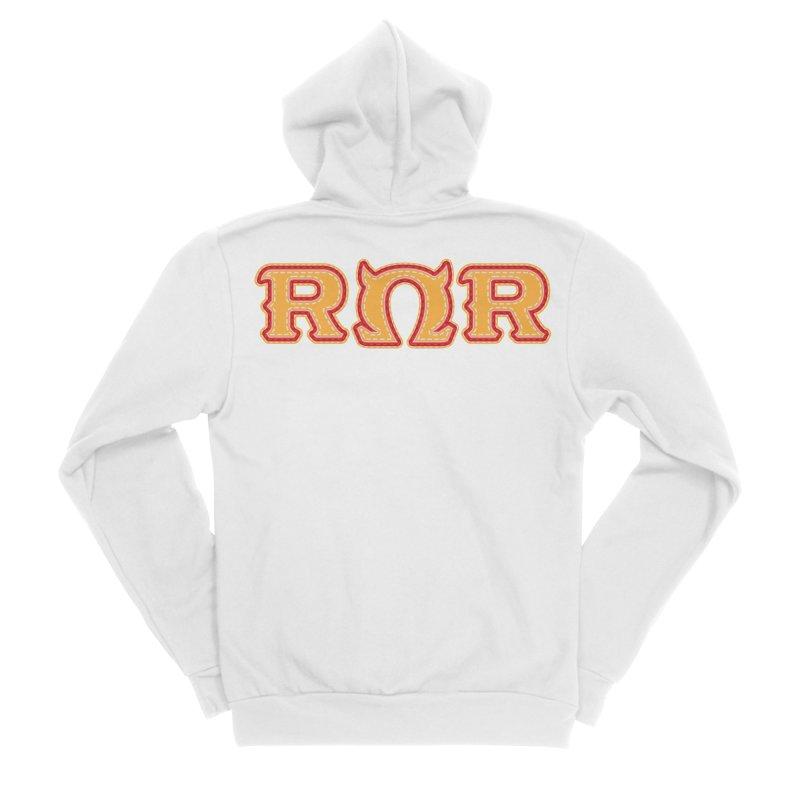 Roar Omega Roar Men's Sponge Fleece Zip-Up Hoody by darkchoocoolat's Artist Shop