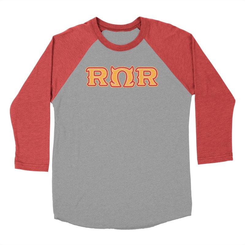 Roar Omega Roar Men's Baseball Triblend Longsleeve T-Shirt by darkchoocoolat's Artist Shop
