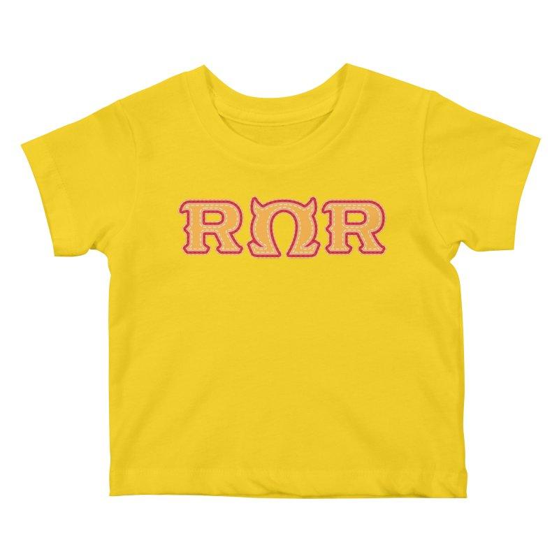 Roar Omega Roar Kids Baby T-Shirt by darkchoocoolat's Artist Shop