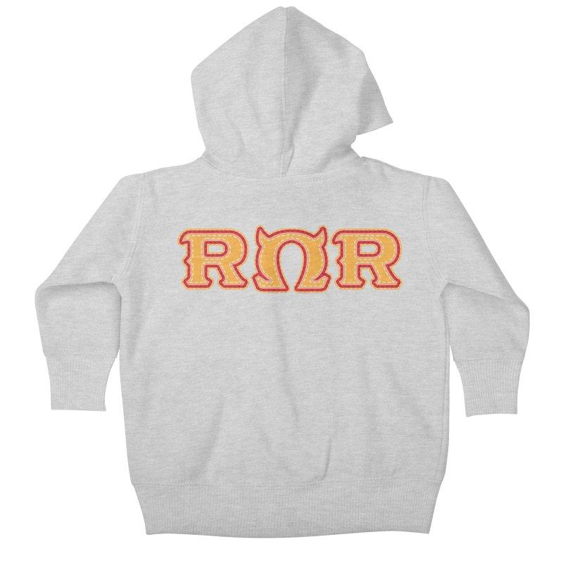 Roar Omega Roar Kids Baby Zip-Up Hoody by darkchoocoolat's Artist Shop