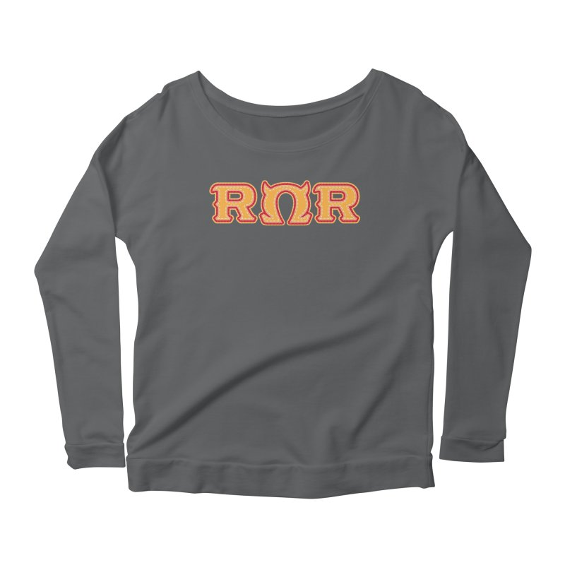 Roar Omega Roar Women's Scoop Neck Longsleeve T-Shirt by darkchoocoolat's Artist Shop