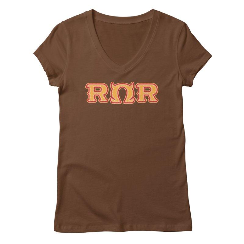 Roar Omega Roar Women's Regular V-Neck by darkchoocoolat's Artist Shop