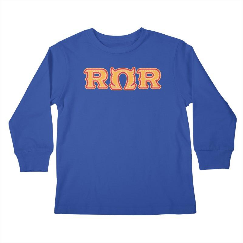 Roar Omega Roar Kids Longsleeve T-Shirt by darkchoocoolat's Artist Shop