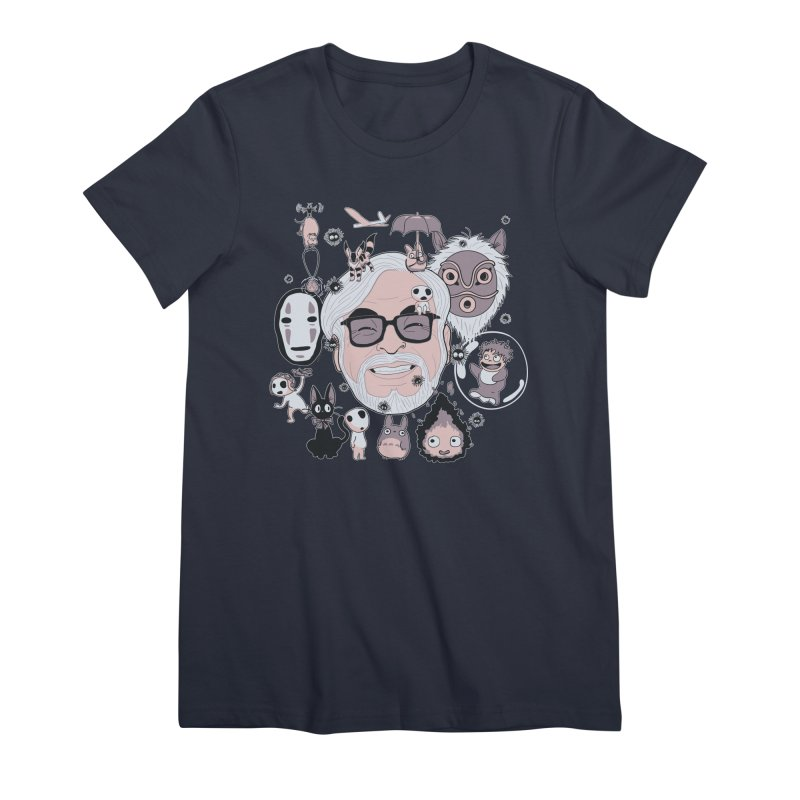 Miyazaki Tribute Women's Premium T-Shirt by darkchoocoolat's Artist Shop