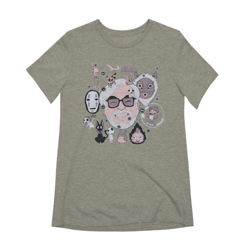Miyazaki Tribute Women's Extra Soft T-Shirt by darkchoocoolat's Artist Shop