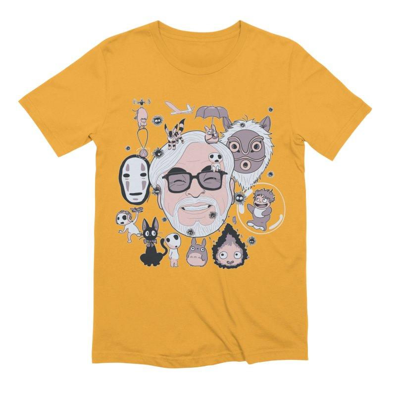 Miyazaki Tribute Men's Extra Soft T-Shirt by darkchoocoolat's Artist Shop