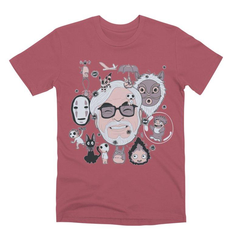 Miyazaki Tribute Men's Premium T-Shirt by darkchoocoolat's Artist Shop