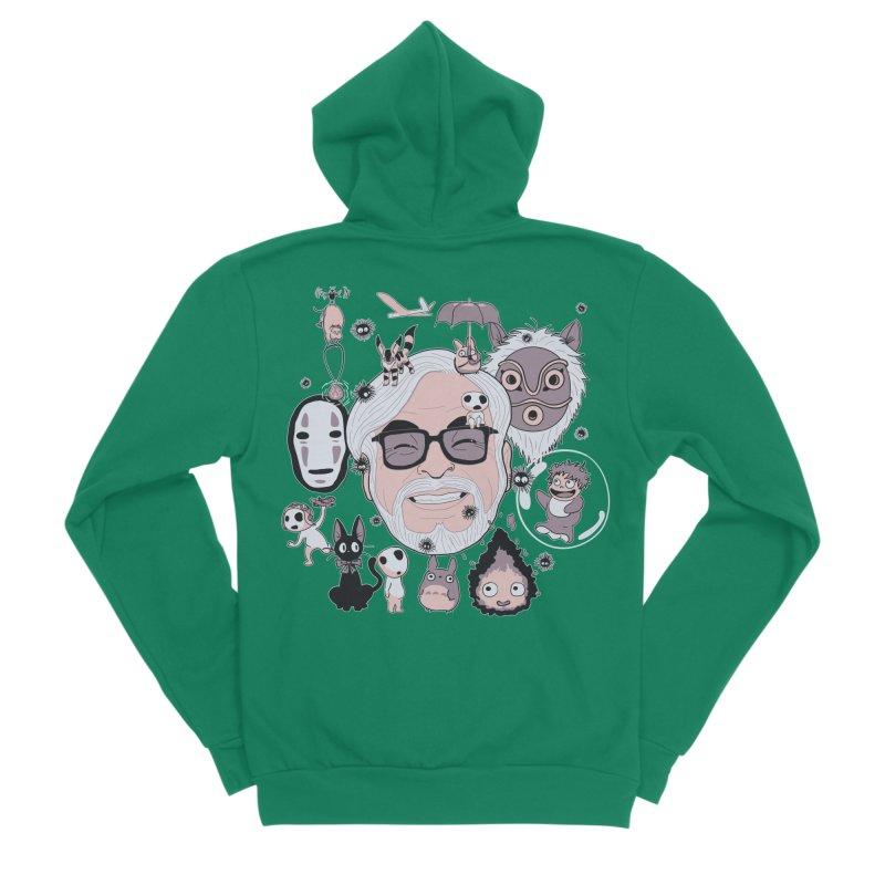 Miyazaki Tribute Men's Sponge Fleece Zip-Up Hoody by darkchoocoolat's Artist Shop