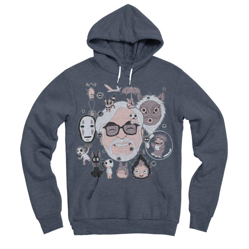 Miyazaki Tribute Men's Sponge Fleece Pullover Hoody by darkchoocoolat's Artist Shop