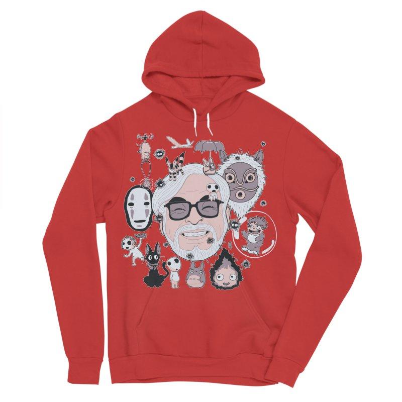Miyazaki Tribute Women's Sponge Fleece Pullover Hoody by darkchoocoolat's Artist Shop