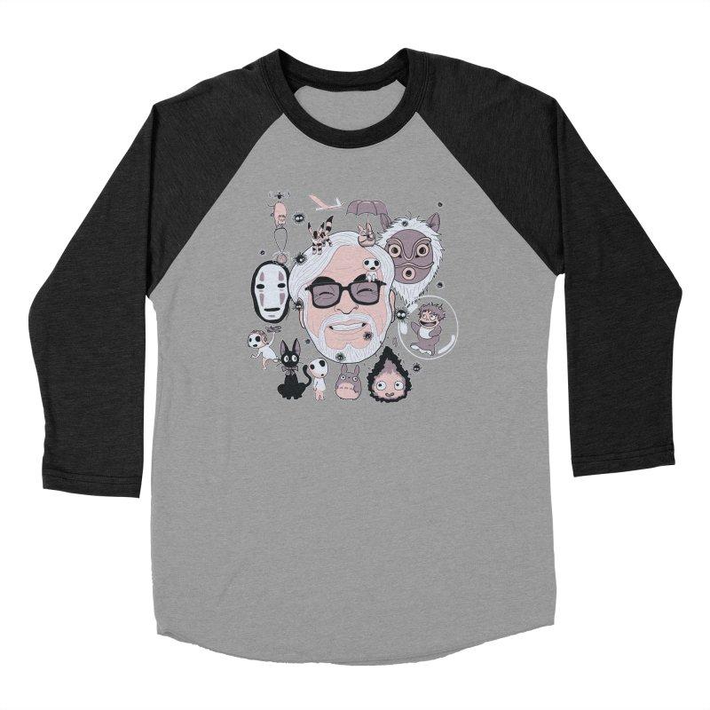 Miyazaki Tribute Men's Baseball Triblend Longsleeve T-Shirt by darkchoocoolat's Artist Shop