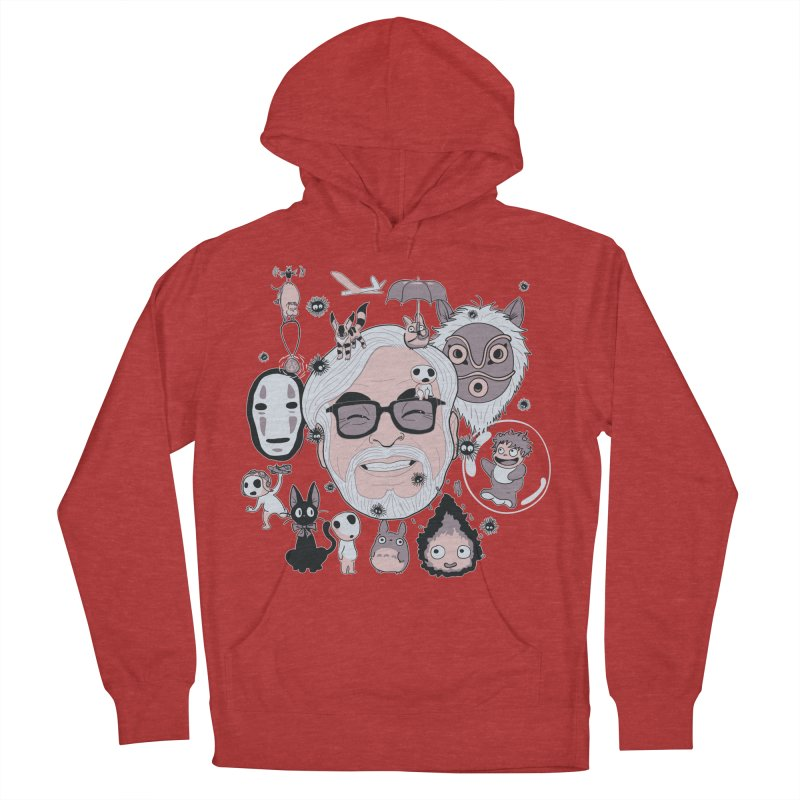 Miyazaki Tribute Men's French Terry Pullover Hoody by darkchoocoolat's Artist Shop