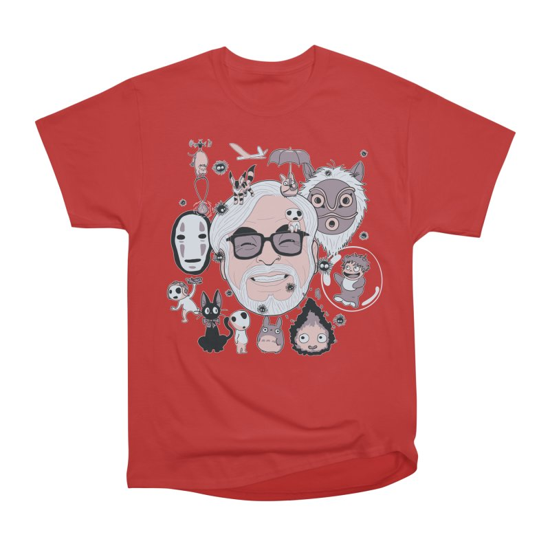 Miyazaki Tribute Men's Heavyweight T-Shirt by darkchoocoolat's Artist Shop