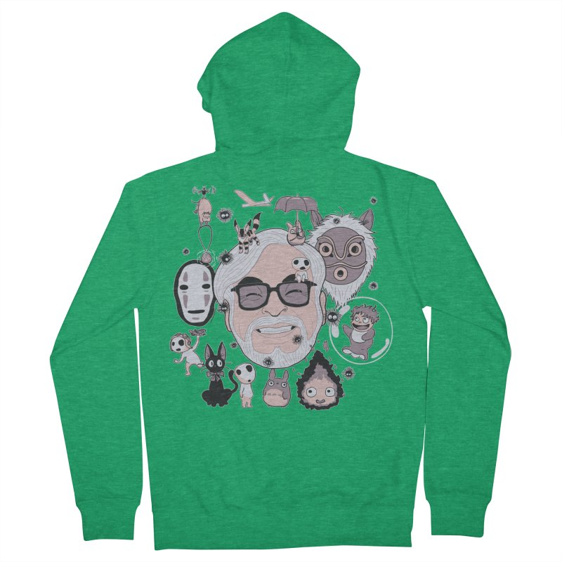 Miyazaki Tribute Women's French Terry Zip-Up Hoody by darkchoocoolat's Artist Shop