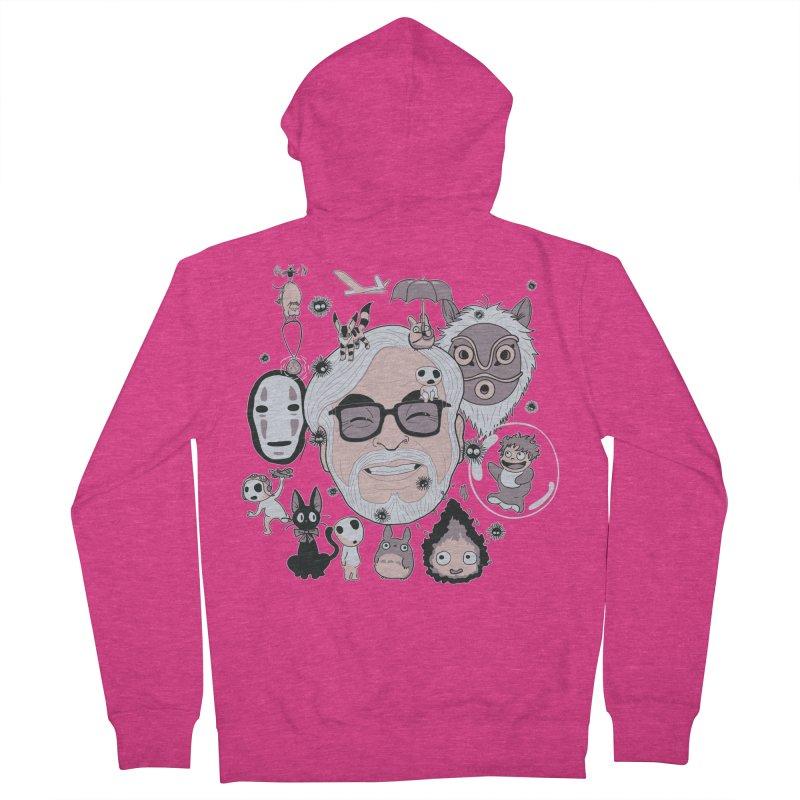 Miyazaki Tribute Women's French Terry Zip-Up Hoody by darkchoocoolat's Artist Shop