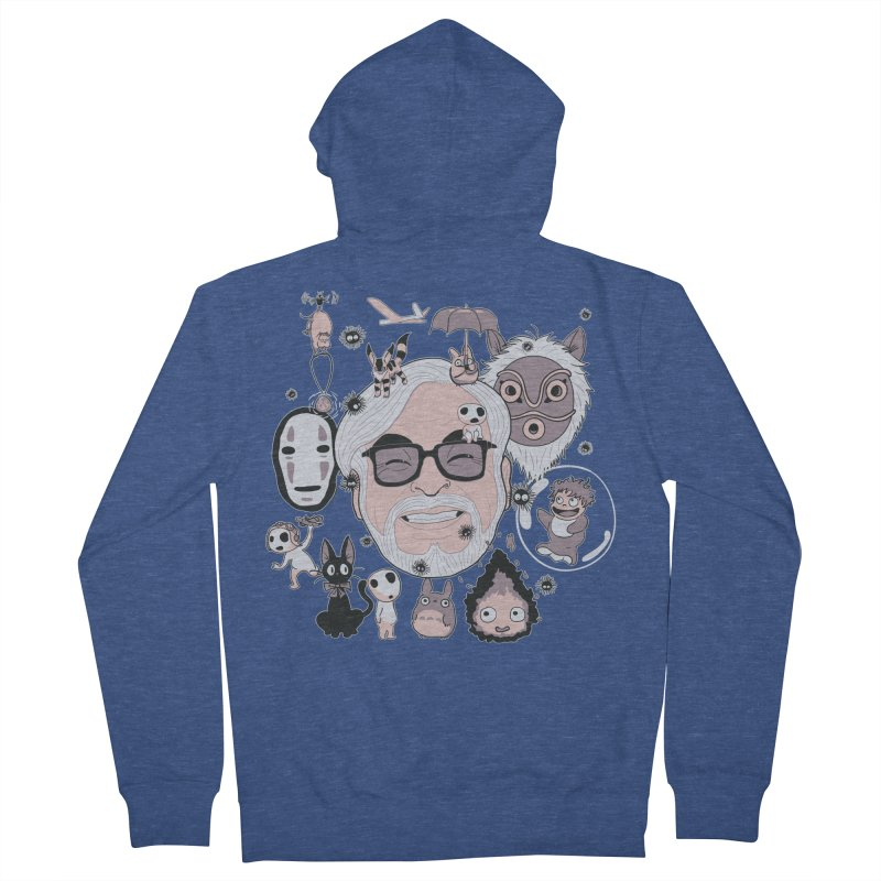 Miyazaki Tribute Men's French Terry Zip-Up Hoody by darkchoocoolat's Artist Shop