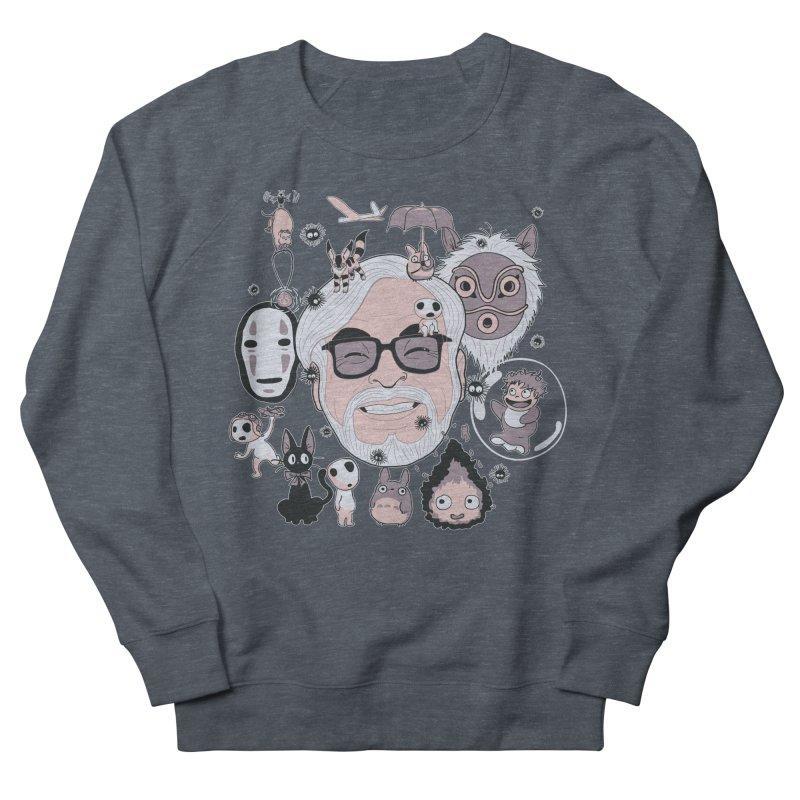 Miyazaki Tribute Men's French Terry Sweatshirt by darkchoocoolat's Artist Shop