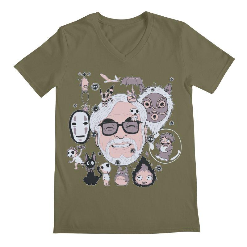 Miyazaki Tribute Men's Regular V-Neck by darkchoocoolat's Artist Shop