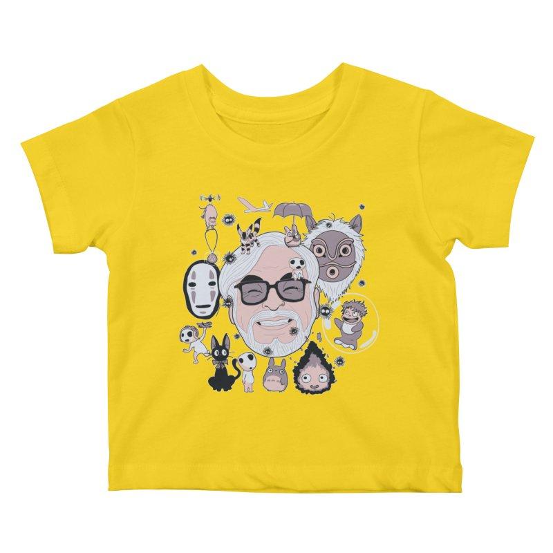Miyazaki Tribute Kids Baby T-Shirt by darkchoocoolat's Artist Shop