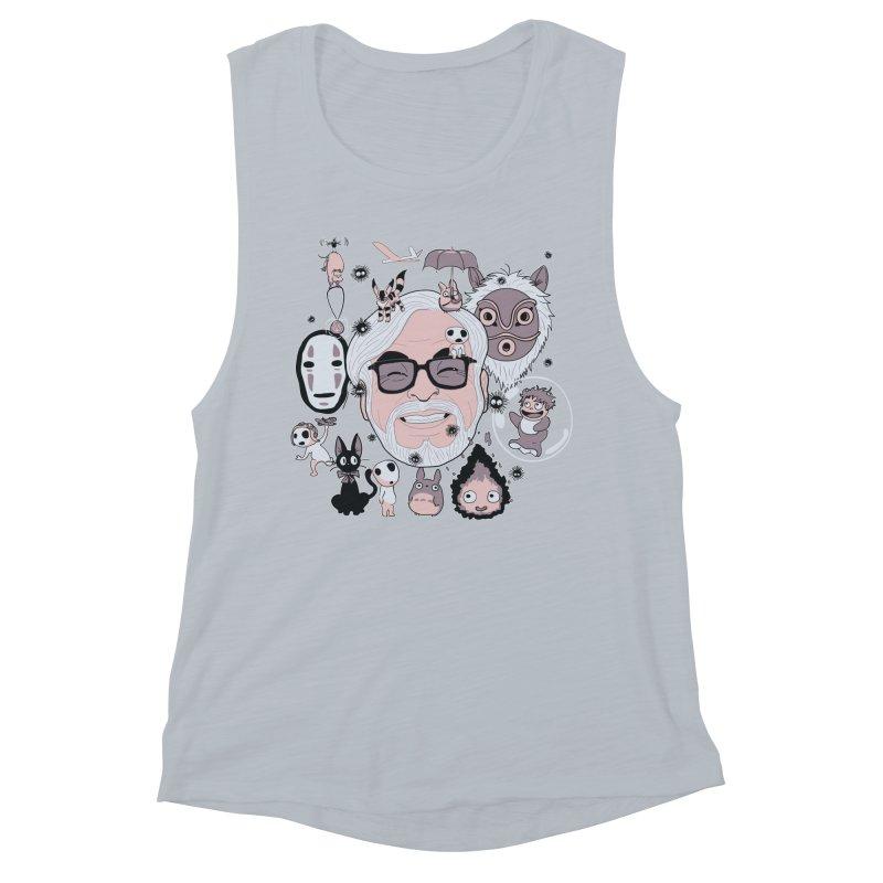 Miyazaki Tribute Women's Muscle Tank by darkchoocoolat's Artist Shop
