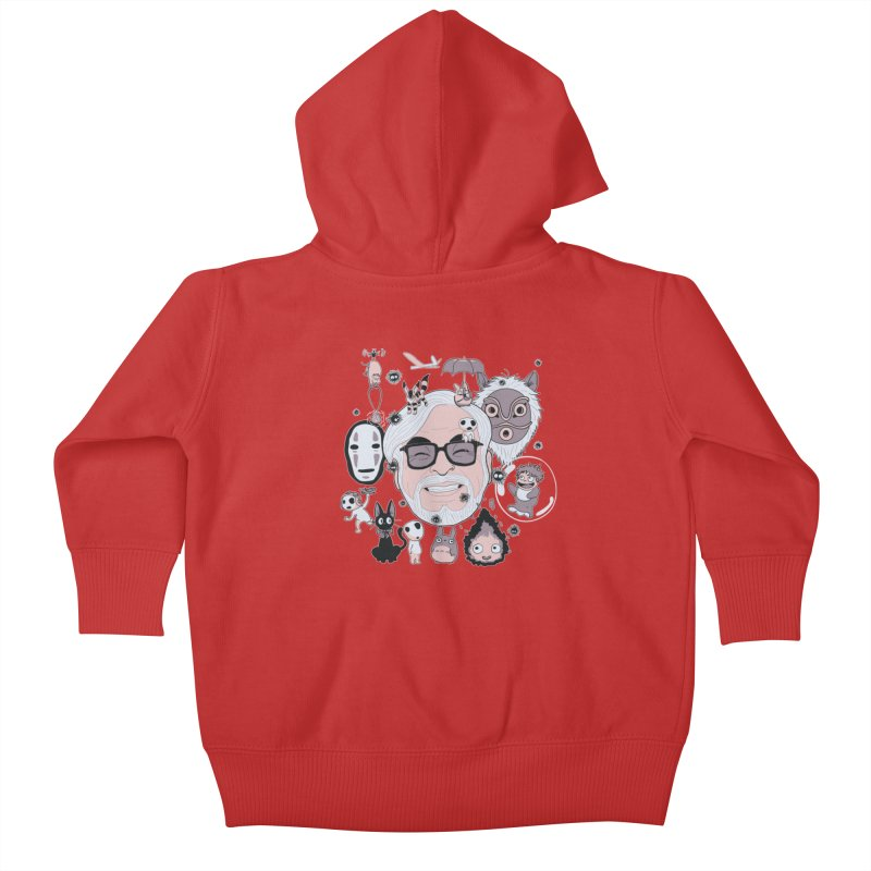 Miyazaki Tribute Kids Baby Zip-Up Hoody by darkchoocoolat's Artist Shop