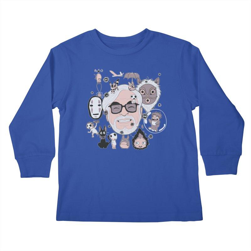 Miyazaki Tribute Kids Longsleeve T-Shirt by darkchoocoolat's Artist Shop