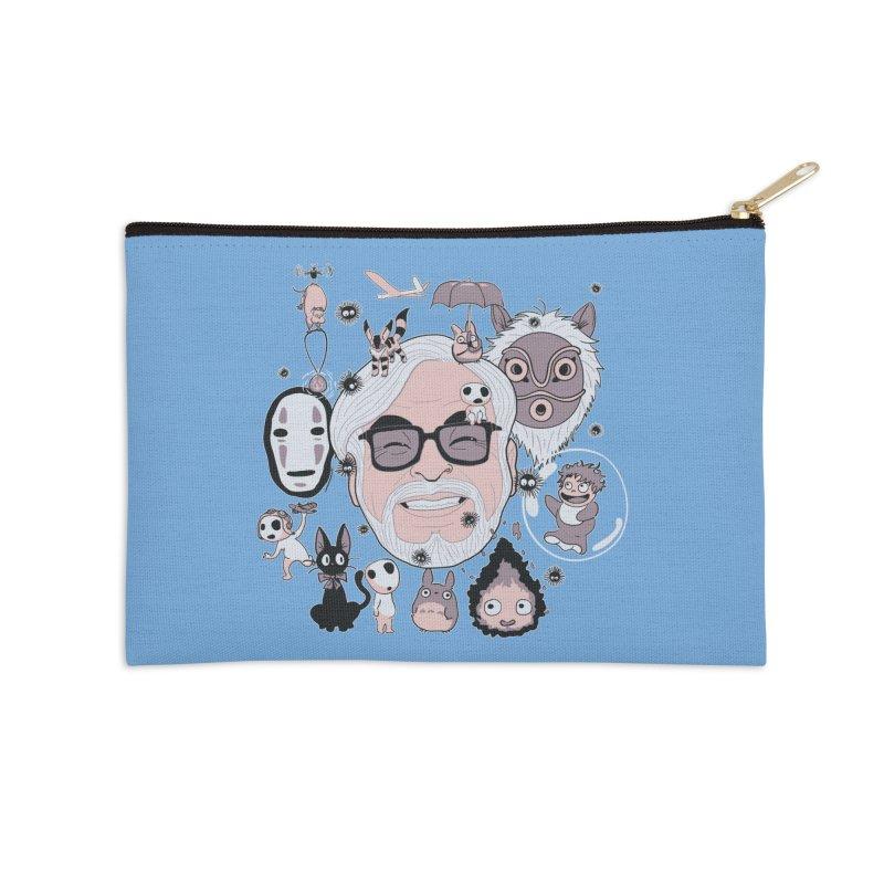 Miyazaki Tribute Accessories Zip Pouch by darkchoocoolat's Artist Shop