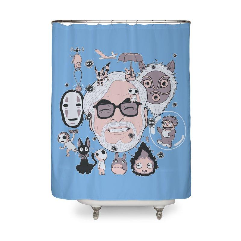 Miyazaki Tribute Home Shower Curtain by darkchoocoolat's Artist Shop