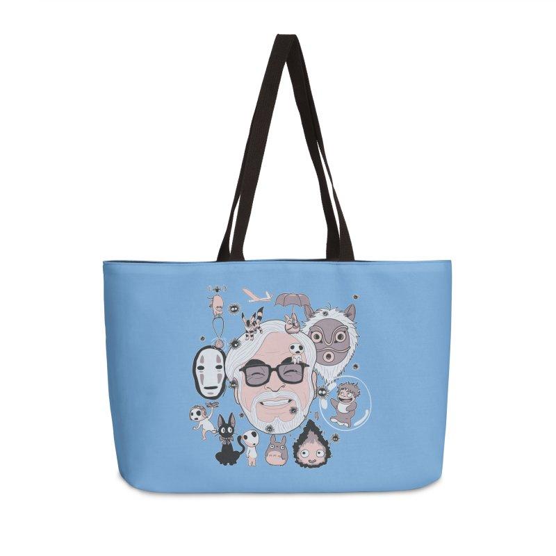 Miyazaki Tribute Accessories Weekender Bag Bag by darkchoocoolat's Artist Shop