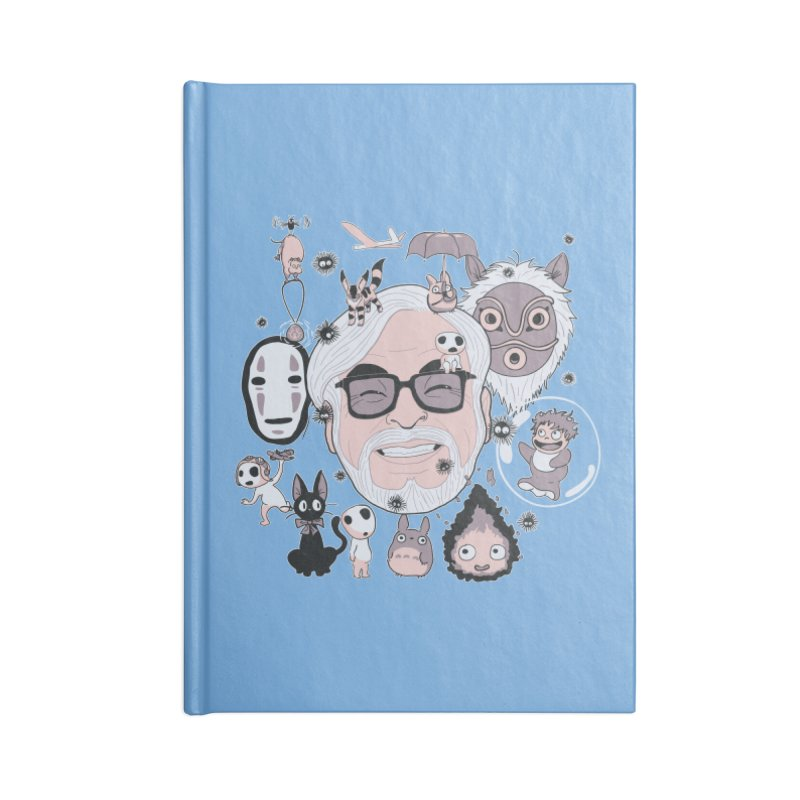 Miyazaki Tribute Accessories Lined Journal Notebook by darkchoocoolat's Artist Shop