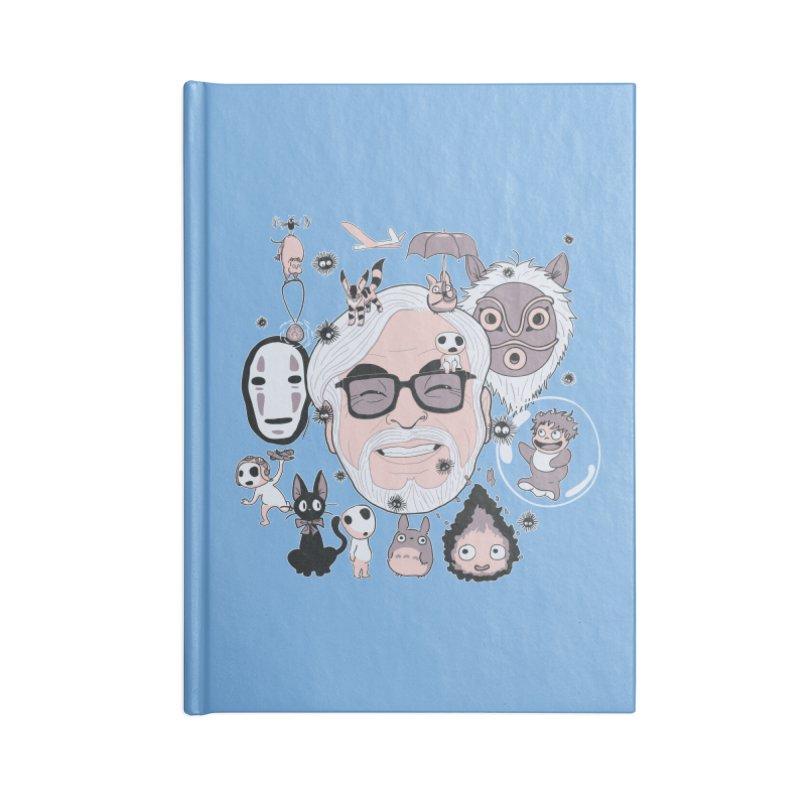 Miyazaki Tribute Accessories Blank Journal Notebook by darkchoocoolat's Artist Shop