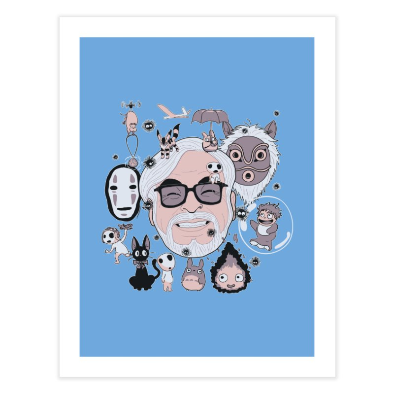 Miyazaki Tribute Home Fine Art Print by darkchoocoolat's Artist Shop