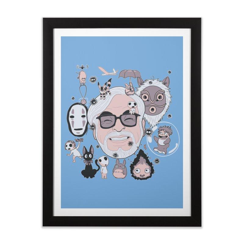 Miyazaki Tribute Home Framed Fine Art Print by darkchoocoolat's Artist Shop