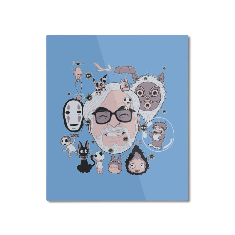 Miyazaki Tribute Home Mounted Aluminum Print by darkchoocoolat's Artist Shop