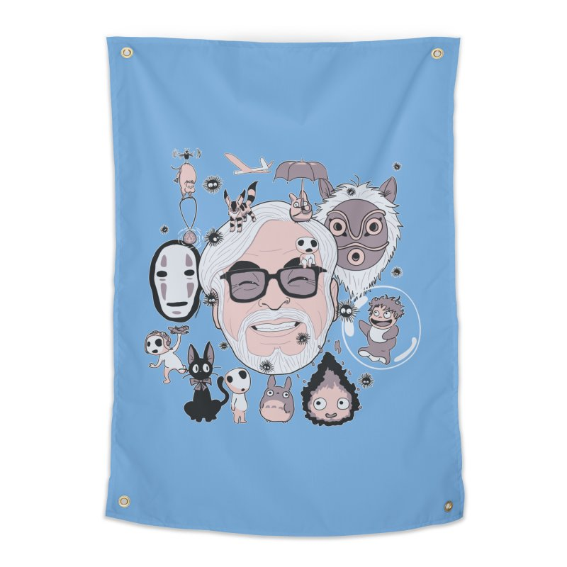 Miyazaki Tribute Home Tapestry by darkchoocoolat's Artist Shop