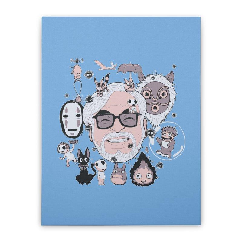 Miyazaki Tribute Home Stretched Canvas by darkchoocoolat's Artist Shop