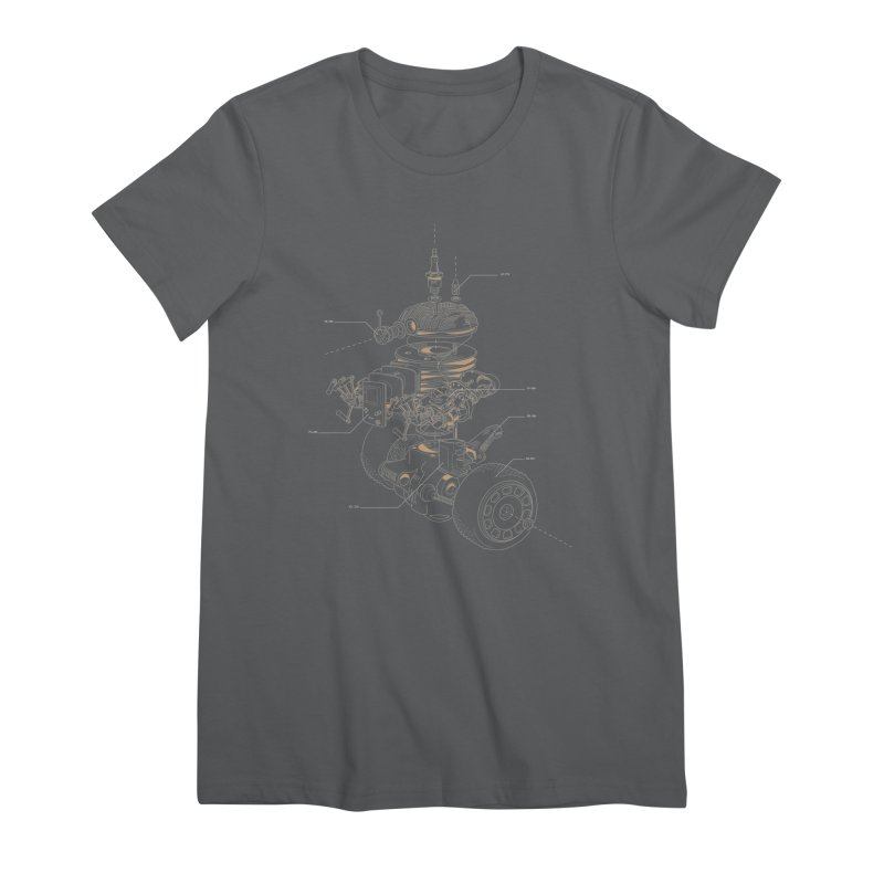 Recycling Robot Women's Premium T-Shirt by darkchoocoolat's Artist Shop