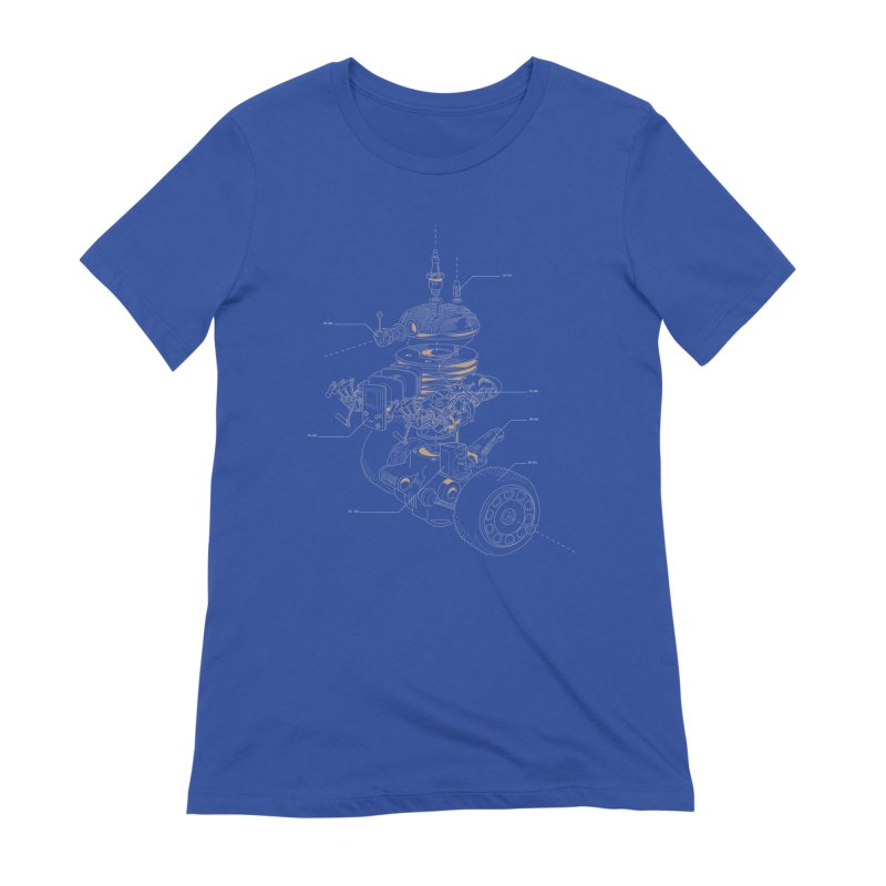 Recycling Robot Women's Extra Soft T-Shirt by darkchoocoolat's Artist Shop