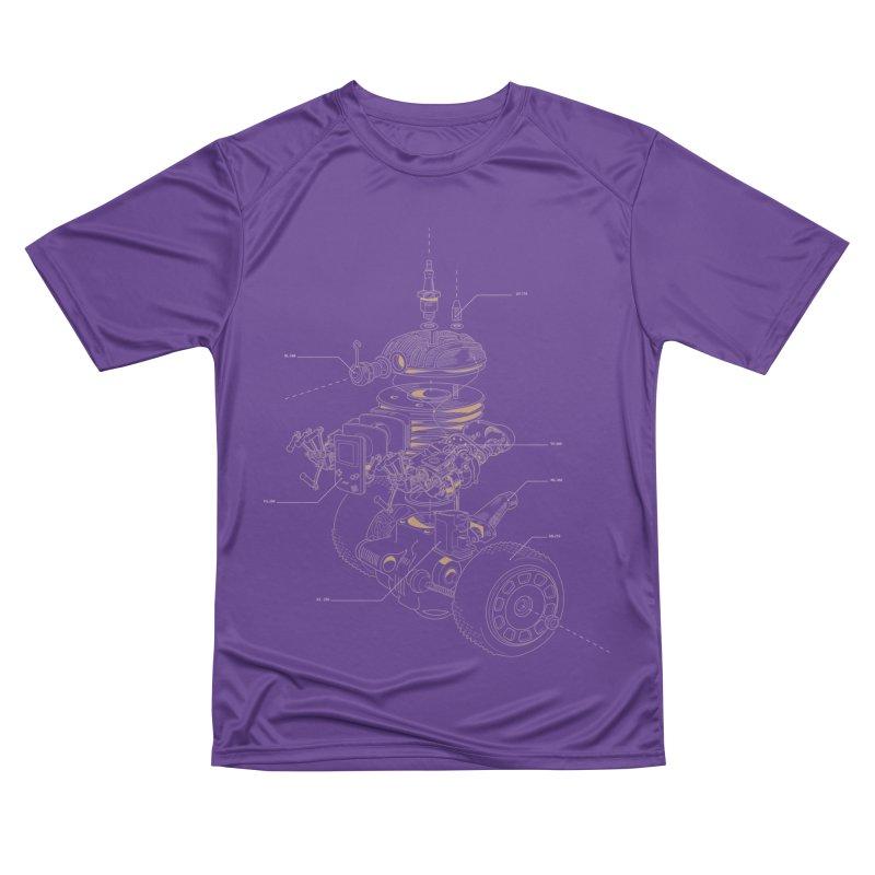 Recycling Robot Women's Performance Unisex T-Shirt by darkchoocoolat's Artist Shop