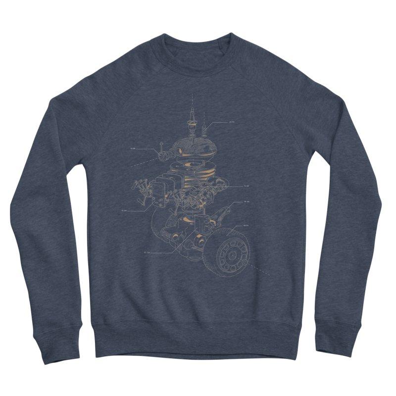 Recycling Robot Women's Sponge Fleece Sweatshirt by darkchoocoolat's Artist Shop