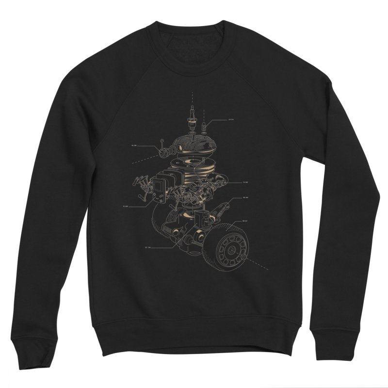 Recycling Robot Women's Sponge Fleece Sweatshirt by darkchoocoolat's Artist Shop
