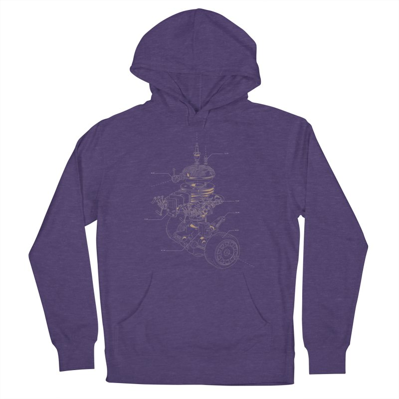 Recycling Robot Women's French Terry Pullover Hoody by darkchoocoolat's Artist Shop
