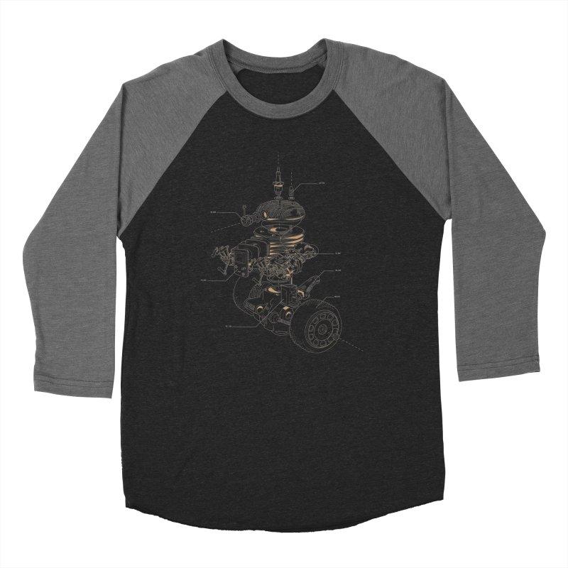 Recycling Robot Men's Baseball Triblend Longsleeve T-Shirt by darkchoocoolat's Artist Shop
