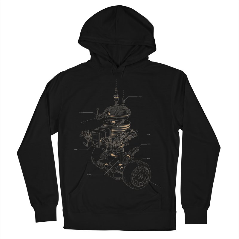 Recycling Robot Men's French Terry Pullover Hoody by darkchoocoolat's Artist Shop