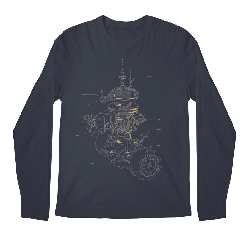 Recycling Robot Men's Regular Longsleeve T-Shirt by darkchoocoolat's Artist Shop
