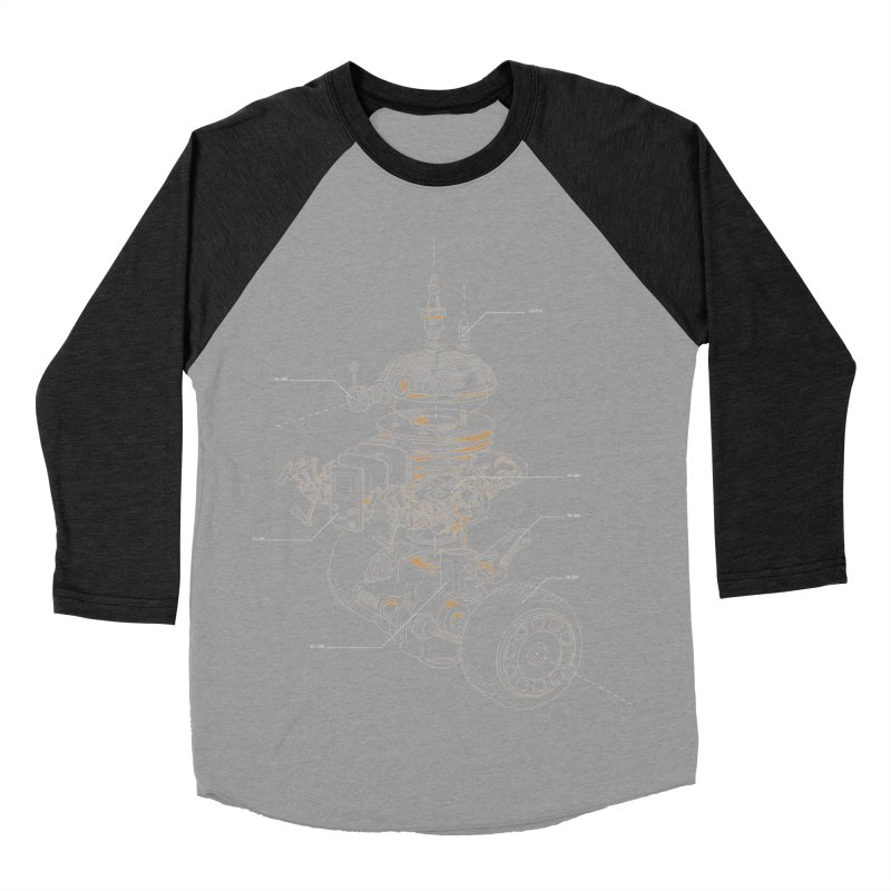 Recycling Robot Women's Baseball Triblend Longsleeve T-Shirt by darkchoocoolat's Artist Shop