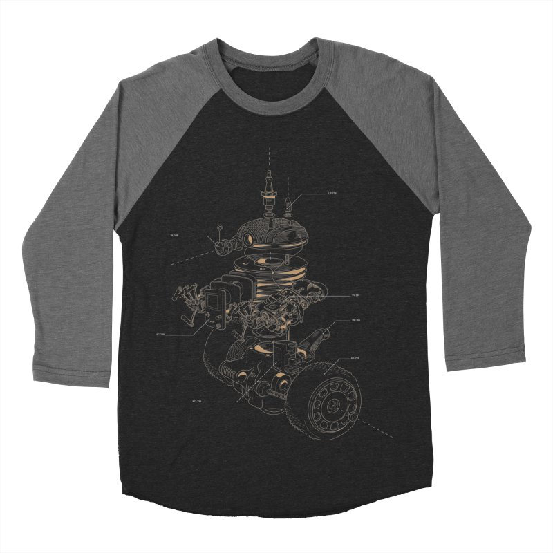 Recycling Robot Men's Baseball Triblend Longsleeve T-Shirt by darkchoocoolat's Artist Shop