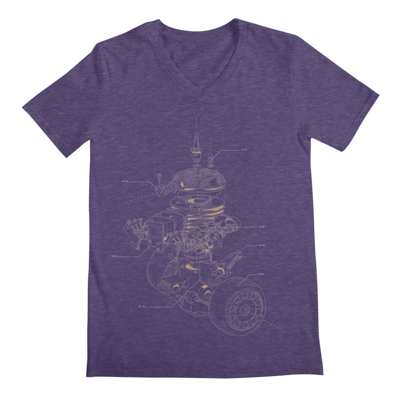 Recycling Robot Men's Regular V-Neck by darkchoocoolat's Artist Shop